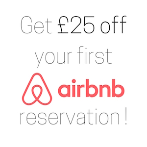 Get £25 off airbnb
